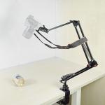 206B Camera Holder Adjustable 360 Degrees Rotation Photography Monitoring Video Recording Overhead Bracket