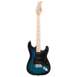 [US Warehouse] Glarry GST Ⅱ Electric Guitar with Wilkinson Pickup & Daddario String &  Maple Fingerboards (Blue)