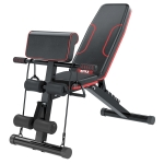 [US Warehouse] Household Adjustable Multifunctional Bench Press Squat Rack Sit-up Bench Abdominal Muscle Training Stool Weightlifting Bed