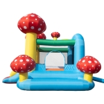 [US Warehouse] PVC Inflatable Jumping Castle with Pool & Slide & Air Blower, Size: 122x106x87 inch