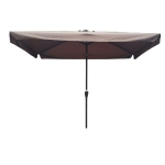 [US Warehouse] Outdoor Patio Umbrella with Crank & Push Button Tilt, Size: 10×6.5Ft (Coffee)