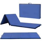 [US Warehouse] Foldable PVC EVA Exercise Yoga Gymnastics Mat, Size: 120x240x5cm (Blue)