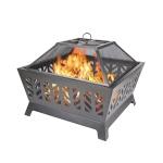 [US Warehouse] Outdoor Camping Beach Bonfire Picnic Garden Steel Wood Burning Fire Pit
