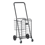 [US Warehouse] Iron Telescopic Armrest  Foldable Shopping Cart, Size: 41x41x100-110cm