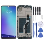 LCD Screen and Digitizer Full Assembly with Frame for ZTE Blade A5 2020 (Black)