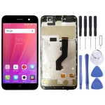 LCD Screen and Digitizer Full Assembly with Frame for ZTE Blade A520 (Black)