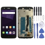 LCD Screen and Digitizer Full Assembly with Frame for ZTE Blade V8 Lite (Black)