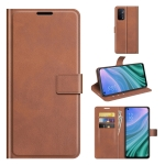 For OPPO A54 5G Retro Calf Pattern Buckle Horizontal Flip Leather Case with Holder & Card Slots & Wallet(Light Brown)