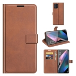 For OPPO Find X3 Pro / Find X3 Retro Calf Pattern Buckle Horizontal Flip Leather Case with Holder & Card Slots & Wallet(Light Brown)