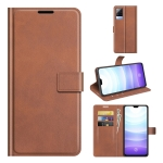 For vivo S9 Retro Calf Pattern Buckle Horizontal Flip Leather Case with Holder & Card Slots & Wallet(Light Brown)
