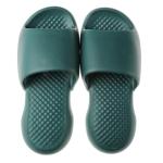 Summer Super Thick Soft Bottom Plastic Slippers Men Indoor Defensive Household Bath Slippers, Size:40-41(Dark Green)