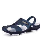 Summer Men Slippers Beaches Waterproof Upstream Breathable Sandals, Size: 44(Dark Blue)