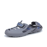 Men Beach Sandals Summer Sport Casual Shoes Slippers, Size: 45(Gray)