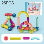 25 PCS / Set Children Inserting Magnetic Building Blocks Intelligence Early Education Assembled Magnetic Sticks