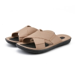 Men Summer Slippers Soft-Soled Sandals Indoor and Outdoor Beach Casual Antiskid Slippers, Size: 43(Khaki)