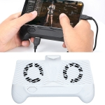 ZY-01 Cooling Gamepad Cooling Fan Eating Mobile Phone Radiator Game Handle( White)