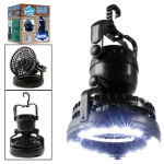 18 LEDs 78LM Portable Camping Tent Lamp Dual Purpose Camping Fan & Light