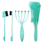 Household Octopus Comb Massage and Smooth Hair Comb Setome Set(Green)