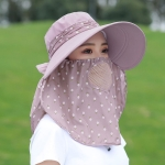 2 PCS Cherry Printing Isolation Cap Sunscreen Face-Covering Outdoor Travel Hat Cap, Colour: Half Cherry (Gray)