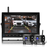 7 Inch Digital Wireless Reversing Image 1080P Video System Truck Monitoring Driving Recorder 2 Division+2 Night Video Camera