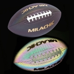 MILACHIC Fluorescent Reflective PU Material American Football(Number 9)