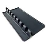 2 PCS Silicone Spoon Holder Kitchen Utensils Anti-Fouling Mat Drain Rack 8 Slot(Black)