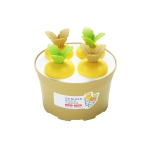 2 PCS Summer Carrot Potted Ice Cream Mold Homemade Ice Tray Round(Yellow)