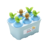 2 PCS Summer Carrot Potted Ice Cream Mold Homemade Ice Tray Rectangle(Blue)