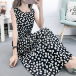 Fashion Printed Slim Slimming Dress (Color:4 Size:S)