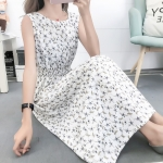 Fashion Printed Slim Slimming Dress (Color:5 Size:L)