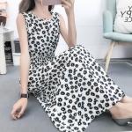 Fashion Printed Slim Slimming Dress (Color:6 Size:XL)