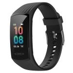 HAMTOD V17S 0.96 inch TFT IPS Screen IP68 Waterproof Smart Watch Smart Bracelet, Support Blood Oxygen Monitoring / Call Reminder / Heart Rate Monitoring / Sleep Monitoring / Temperature Monitoring (Black)