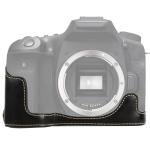 1/4 inch Thread PU Leather Camera Half Case Base for Canon EOS 90D (Black)