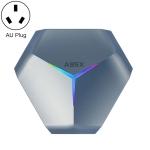 A95X F4 8K UHD Smart TV BOX Android 10.0 Media Player wtih Remote Control, Amlogic S905X4 Quad Core Cortex-A55 up to 2.0GHz, RAM: 4GB, ROM: 64GB, 2.4GHz/5GHz WiFi, Bluetooth, AU Plug(Metallic Blue)