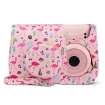 Flamingo Pattern Camera Bag with Shoulder Strap for Fujifilm Instax mini 11(Watermelon)
