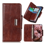 For OPPO Realme C21 Crazy Horse Texture Magnetic Buckle Horizontal Flip Leather Case with Holder & 6-Card Slots & Wallet(Brown)