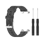For Amazfit T-Rex Pro / Amazfit T-Rex Nylon Canvas Replacement Strap Watchband with Dismantling Tools, One Size(Grey)