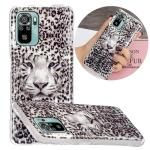 For Xiaomi Redmi Note 10 4G Luminous TPU Protective Case(Leopard Tiger)
