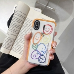 Integrated Design Pattern Protective Case For iPhone XS / X(Orange Circle Smile)