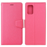 For Samsung Galaxy A02s Silk Texture Horizontal Flip Leather Case with Holder & Card Slots & Wallet & Photo Frame(Rose Red)