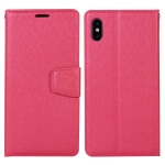 For Samsung Galaxy A22 5G Silk Texture Horizontal Flip Leather Case with Holder & Card Slots & Wallet & Photo Frame(Rose Red)