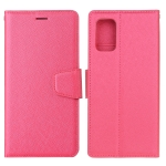 For Samsung Galaxy A51 Silk Texture Horizontal Flip Leather Case with Holder & Card Slots & Wallet & Photo Frame(Rose Red)