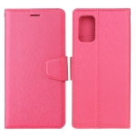 For Samsung Galaxy A52 5G / 4G Silk Texture Horizontal Flip Leather Case with Holder & Card Slots & Wallet & Photo Frame(Rose Red)