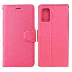 For Samsung Galaxy S20 FE Silk Texture Horizontal Flip Leather Case with Holder & Card Slots & Wallet & Photo Frame(Rose Red)