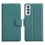 For Samsung Galaxy S21 5G Silk Texture Horizontal Flip Leather Case with Holder & Card Slots & Wallet & Photo Frame(Green)
