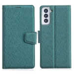 For Samsung Galaxy S21+ 5G Silk Texture Horizontal Flip Leather Case with Holder & Card Slots & Wallet & Photo Frame(Green)