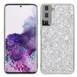 For Samsung Galaxy S21 FE Glitter Powder Shockproof TPU Protective Case(Silver)