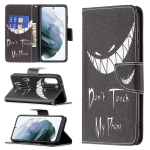 For Samsung Galaxy S21 FE Colored Drawing Pattern Horizontal Flip Leather Case with Holder & Card Slots & Wallet(Smirk)