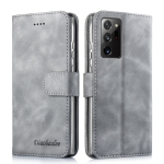 For Samsung Galaxy A72 5G / 4G Diaobaolee Pure Fresh Texture Horizontal Flip Leather Case with Holder & Card Slot & Wallet & Photo Frame(Grey)
