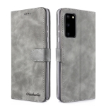 For Xiaomi Poco M3 Diaobaolee Pure Fresh Texture Horizontal Flip Leather Case with Holder & Card Slot & Wallet & Photo Frame(Grey)